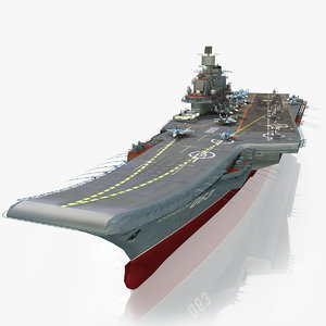 3d model admiral kuznetsov aircraft carrier