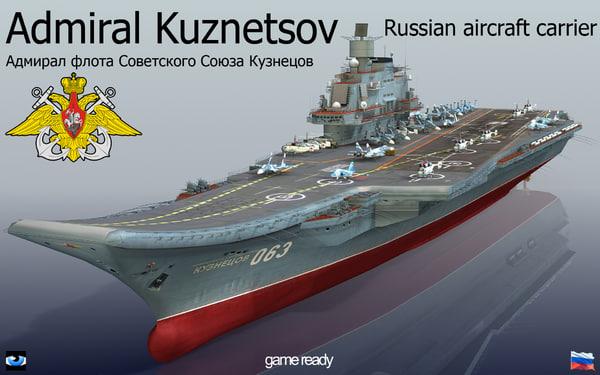 3d admiral kuznetsov aircraft carrier model