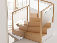 3d wooden staircase