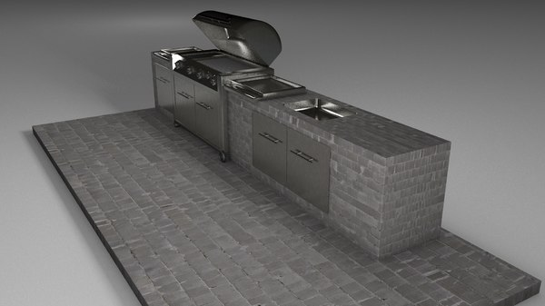 3d basic barbecue