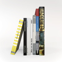 architectural books 3d model