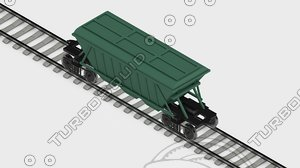 3d 3ds railway carriage