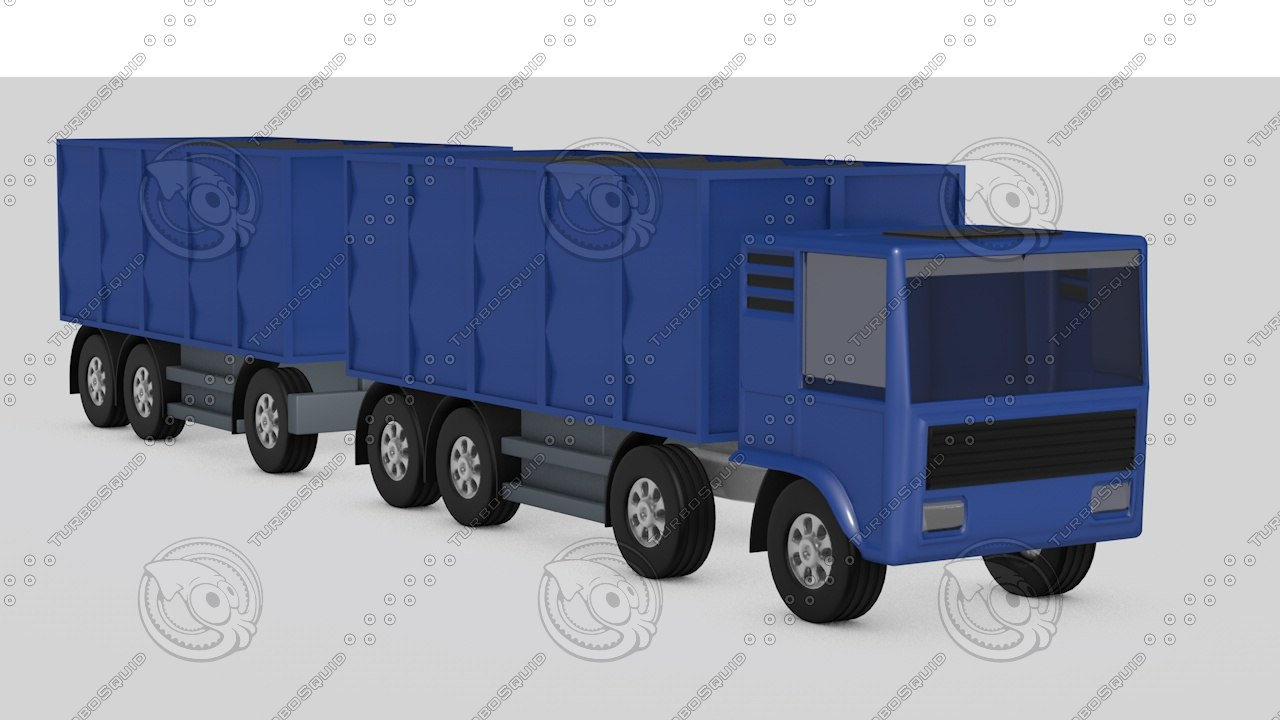 3d model flatbed open body