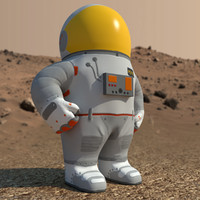 low-poly cartoon astronaut ma