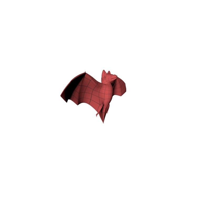 3d model of base mesh bat