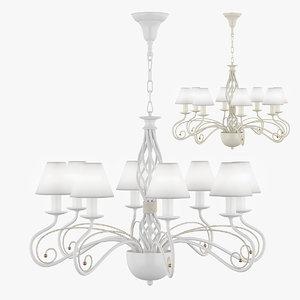 3d chandelier esedra lightstar model