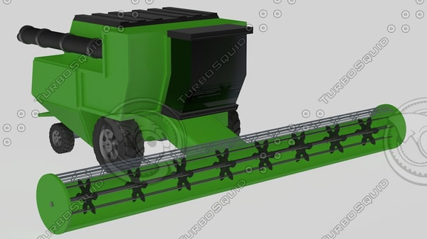 harvester machine 3d model