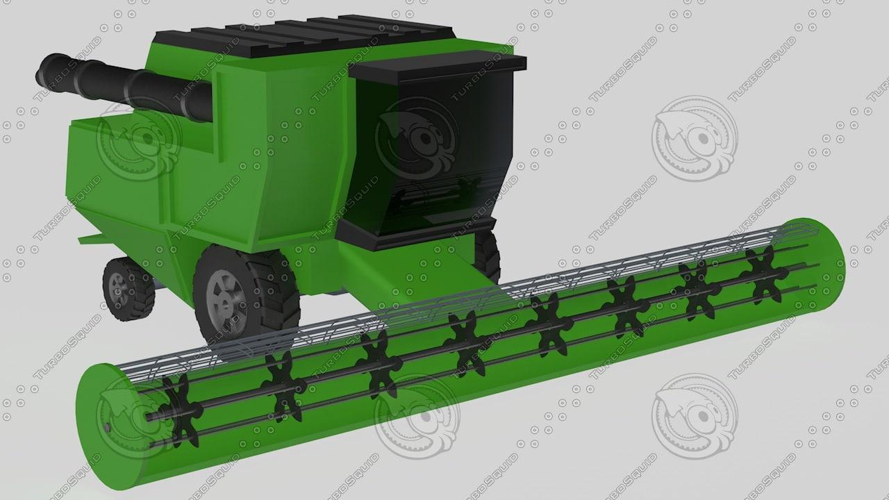 harvester machine 3d model