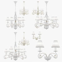 3d chandelier esedra lightstar model