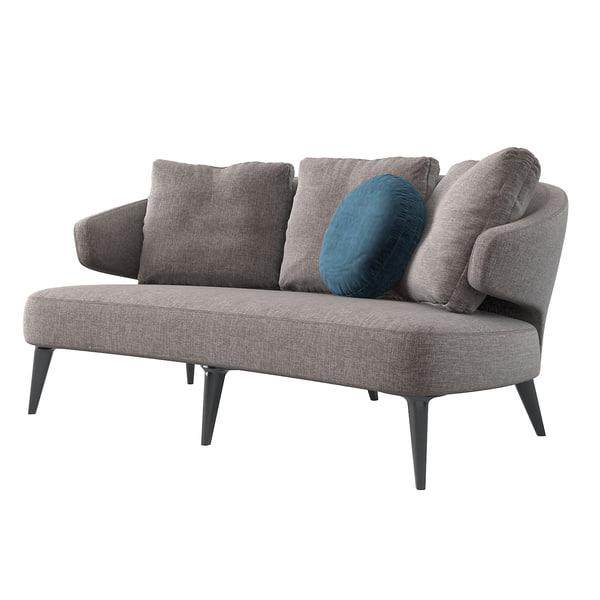 3d minotti aston sofa model