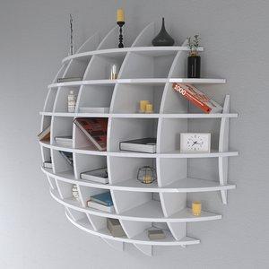 3d shelf spherical