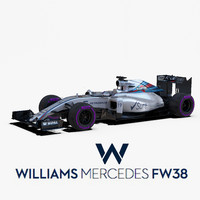 williams fw38 wheels 3d max