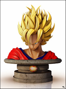dragon ball goku 3d obj