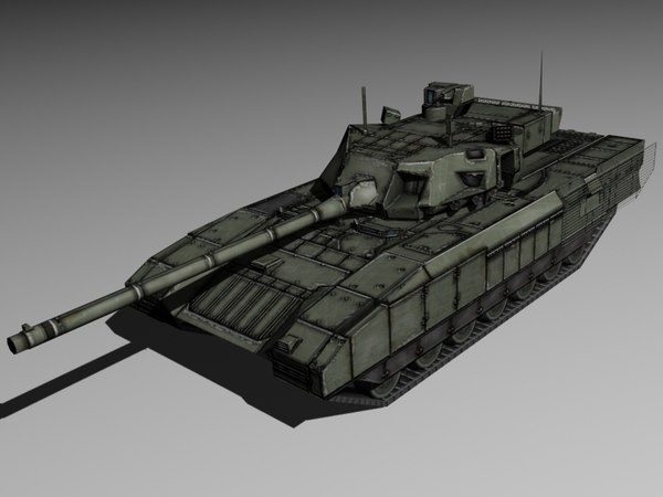 3d model of modern russian tank armata