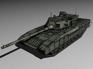 3d model of modern russian tank armata