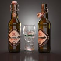 3d model bernard svatecni beer bottles