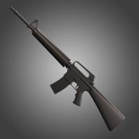 rifle m16 a2 3d max