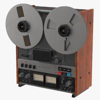 3d model reel-to-reel vintage -