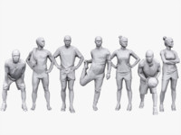 3d people sports pack