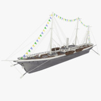 background steamship konstantin 3d model