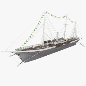 background steamship konstantin 3d model