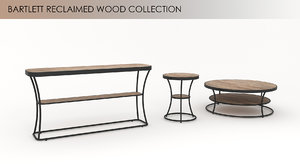 3d bartlett reclaimed wood table model