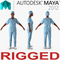 African American Female Doctor Rigged for Maya