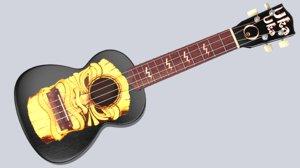 3d ukulele soprano