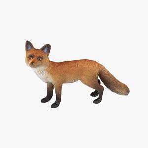 3d fox model