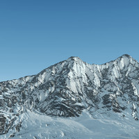 3d model of mountain range alaska terrain landscape