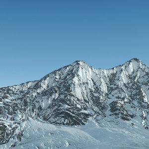 3d model of mountain range alaska terrain landscape