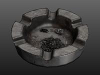 3d heavy ashtray ashes model