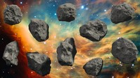 Set of 10 Asteroids - High and Low Poly Versions