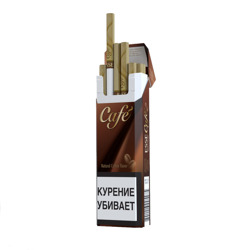 3d model of opened cigarettes cafe
