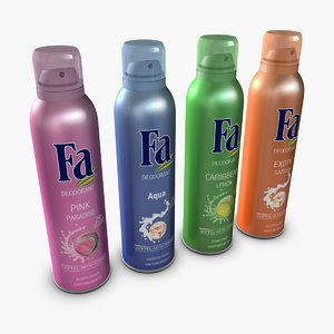 3d model fa spray deodorant