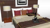 bed scene bedroom 3d max