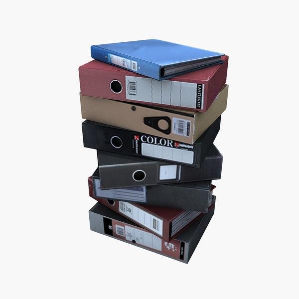 office files folders 3d max