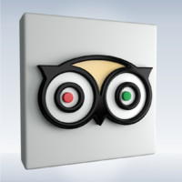 social icon tripadvisor 3d obj