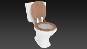 3d toilet t model