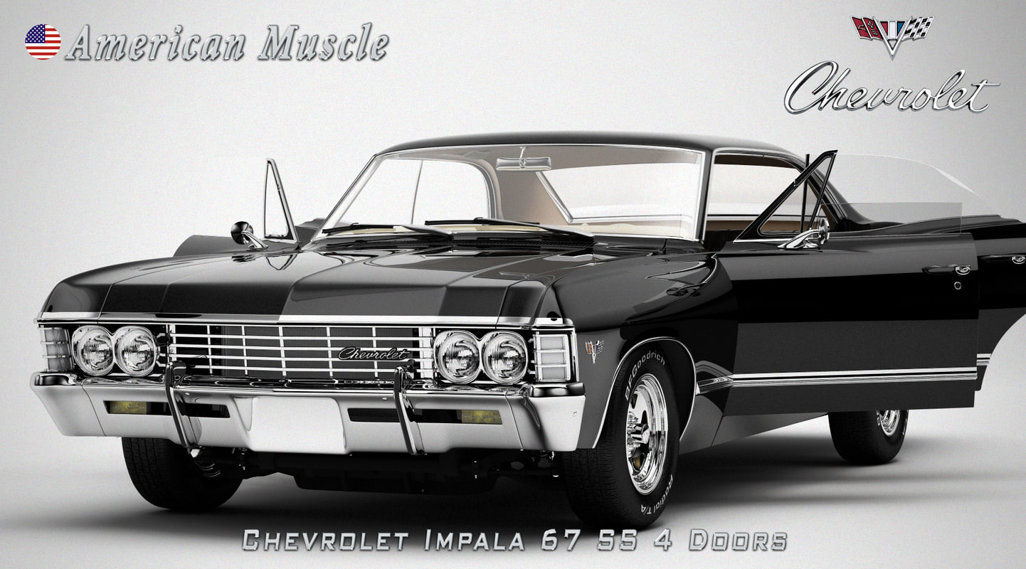 chevrolet impala 67 3d model. Black Bedroom Furniture Sets. Home Design Ideas