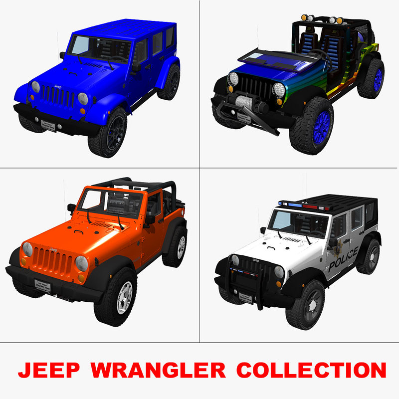 3d model of jeep wranglers