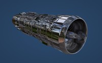 Sci Fi Jet Engine After Burner