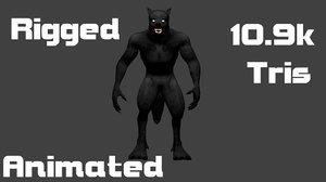 3d model werewolf fantasy