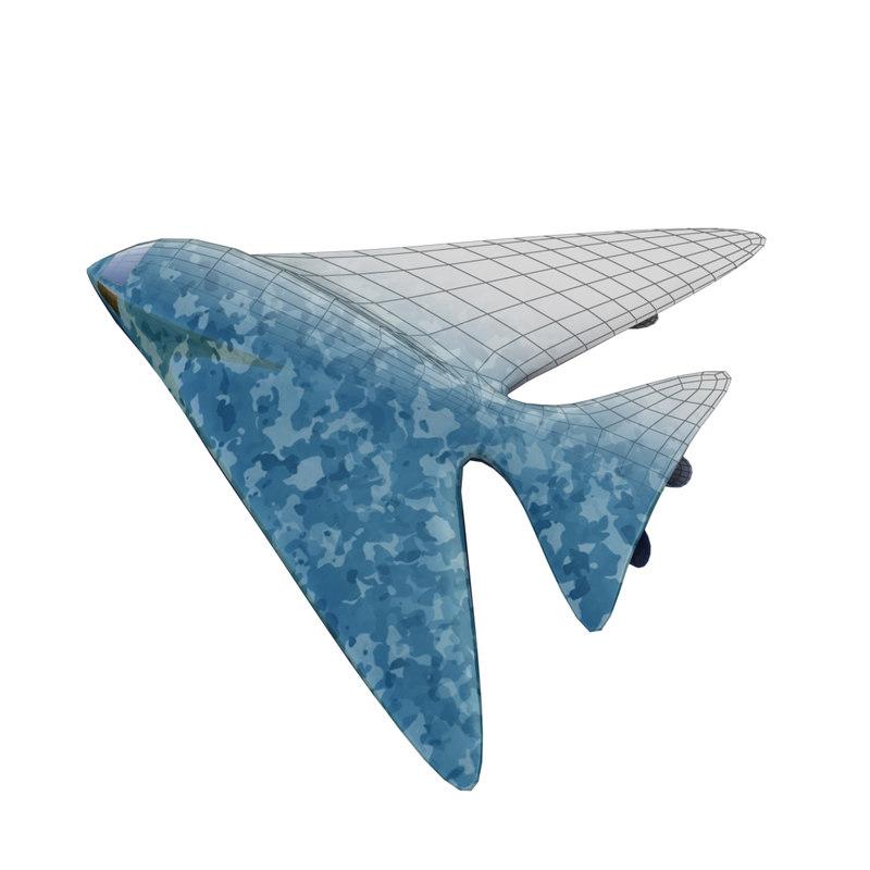 sky kite bomber 3d fbx