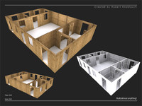 3d construction site wall model