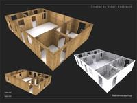 3d construction site wall model