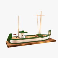 Toy Wooden Boat (RC)