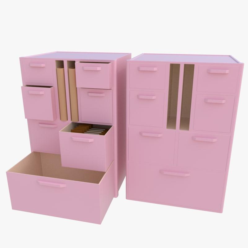 3d plastic cabinet