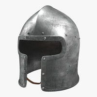 Barbuta Medieval Helmet 3D Model