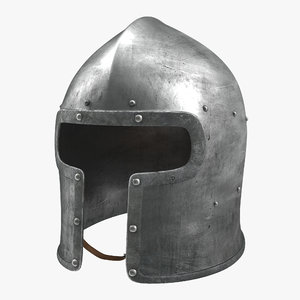 3d barbuta medieval helmet model